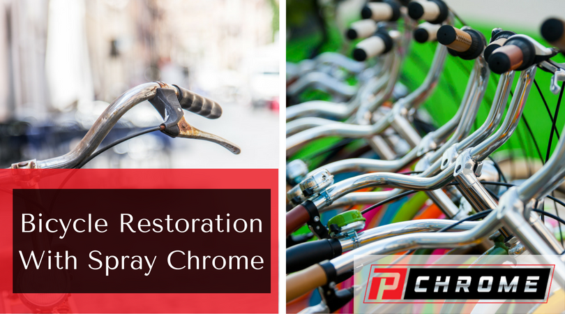 Bicycle Restoration With Spray Chrome Pchrome Chrome