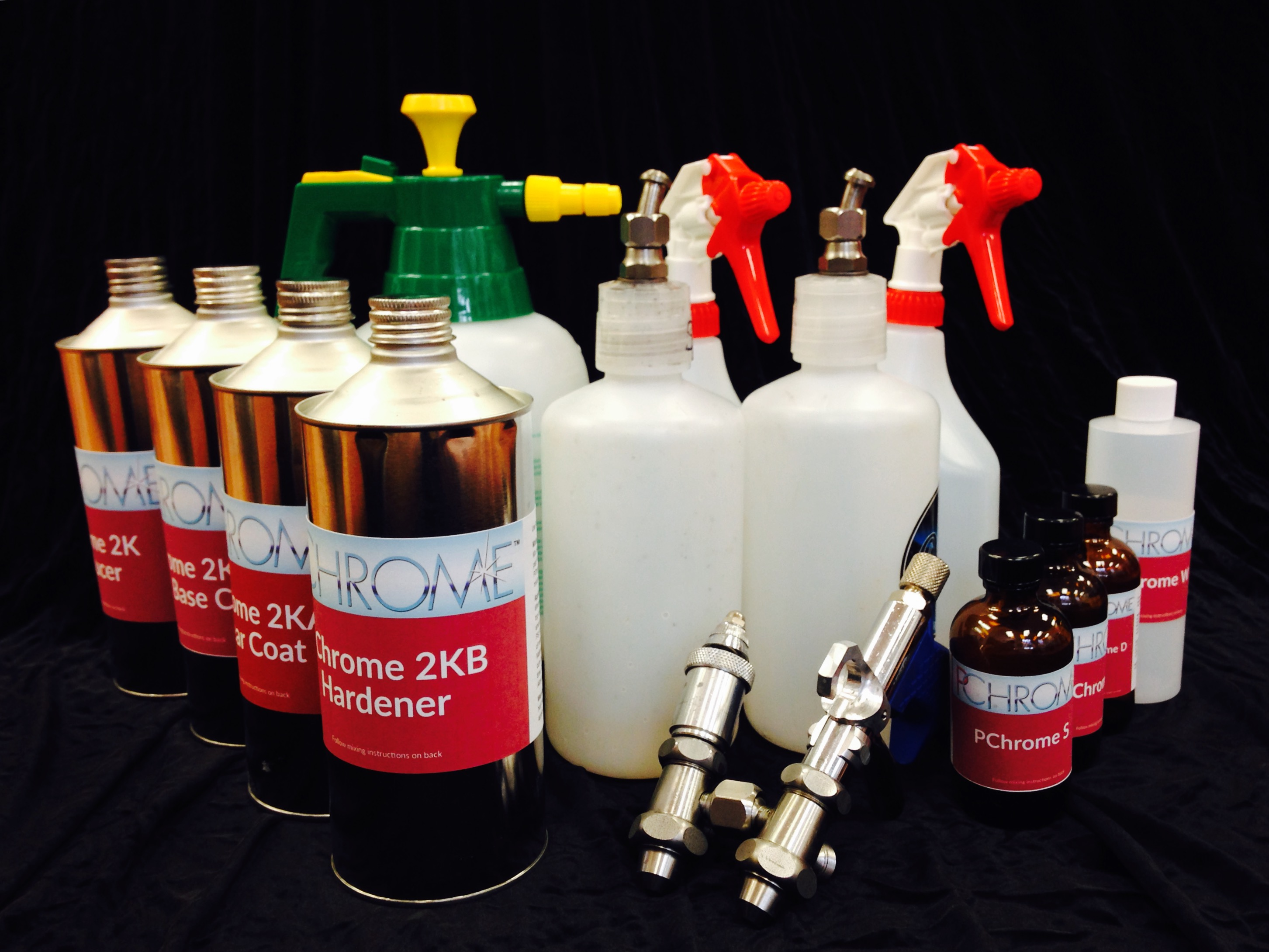 Professional Spray Chrome Kit