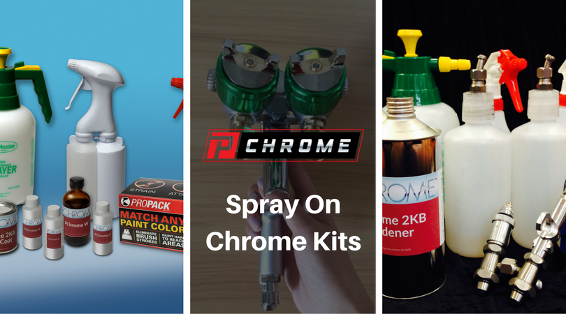 SPRAY-ON CHROME KITS