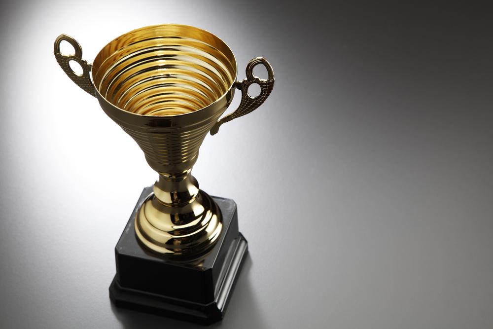 Spray chrome for awards