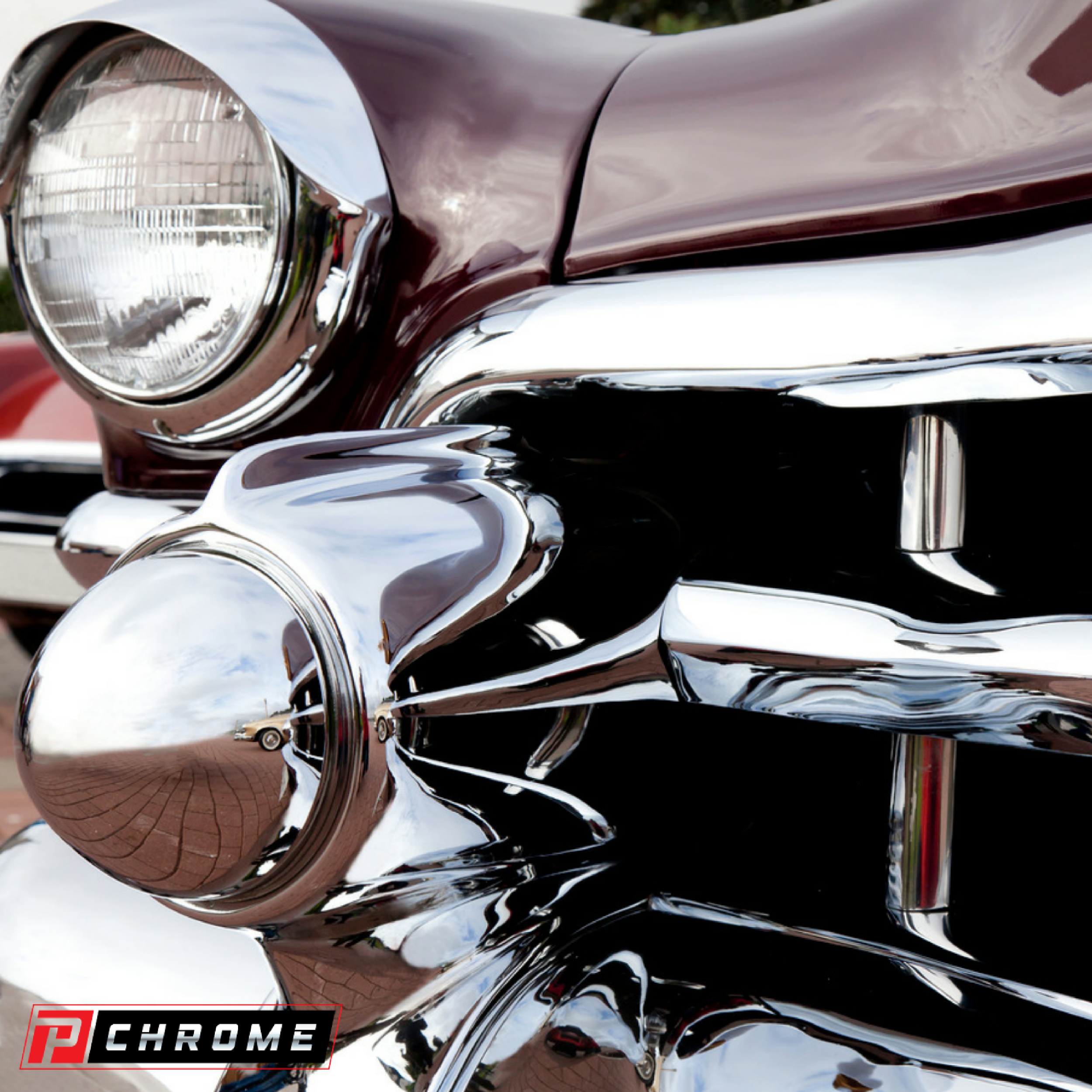 Chrome Repair and Restoration - PChrome - Spray On Chrome System